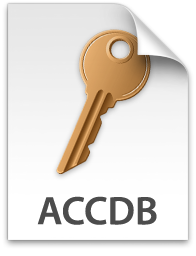 how to open accdb file on windows